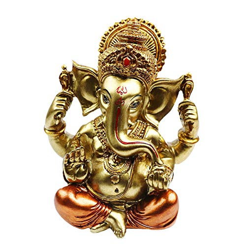 alikiki Hindu God Lord Ganesha Idol Statue - Indian Elephant Buddha Ganesha Sculpture -India Home Pooja Diwali Decoration