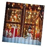 Vankoa Gardinen für Schlafzimmer, Weihnachten, für Wohnzimmer F