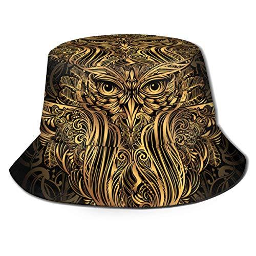 Preisvergleich Produktbild Sonnenhut-UV-Schutz Wandern & Gartenarbeit / Gartenhut Hand gezeichnet Ornate Spirit Symbol Totem Animal Wildlife Owl Metallic