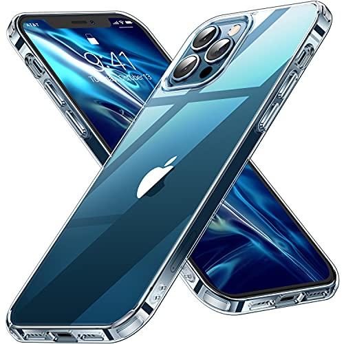 CASEKOO Crystal Clear für iPhone 12 Pro Max Hülle [Keine Vergilbungen] [Falltest gemäß MLT-STD] Stoßfest Transparent Case Slim Dünn Handyhülle 6,7 Zoll 5G 2020- Durchsichtig