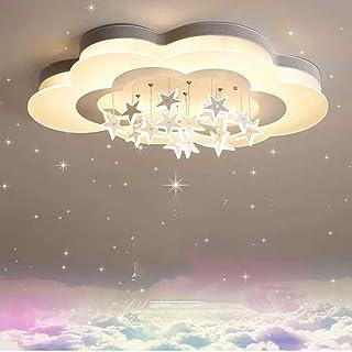 24 W l/ámpara de techo con mando a distancia 3000K- 6500K habitaci/ón de los ni/ños sal/ón dormitorio ba/ño luz de estrellas 1680 lm regulable l/ámpara de estrellas Oeegoo L/ámpara LED de techo