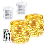 [2 Pack]Christmas Lights 240 LED 85ft Fairy Lights...