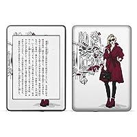 igsticker kindle paperwhite 第4世代 専用スキンシール キンドル ペーパーホワイト タブレット 電子書籍 裏表2枚セット カバー 保護 フィルム ステッカー 015673 女の人 おしゃれ クール