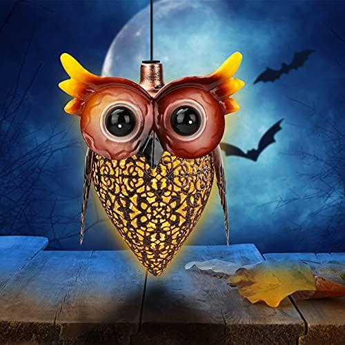 Owl Lawn Lamp, Yideng Wasserdichte Outdoor Owl LED Solar Laterne Licht Metall Outdoor Dekorative Gartenleuchten Schöne Garten Ornamente Outdoor Owl Form Licht für Gehweg, Hof, Rasen, Patio, Garten 194