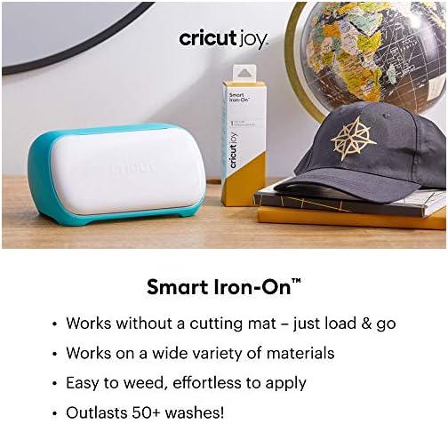 "Cricut 2007202 Joy Smart Iron On Vinyl, DIY Supplies, 5.5"" x 24"" HTV Roll - Black |"
