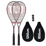 Wilson Impact Pro 900 - Racchetta da squash + palline, Red