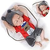 HRYEOY Reborn Babys Junge 20 Zoll 50 cm Ganzkörper Silikon Vinyl Junge Puppe Reborn Baby Puppe...