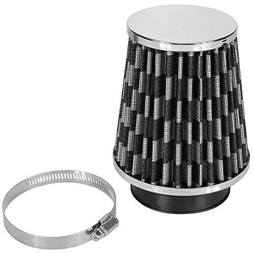 Fydun Filtro de aire Kit de inducción de admisión de filtro de aire frío de alto flujo para automóvil Cono de malla de alta potencia(Negro carbón)