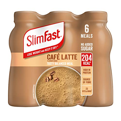 SlimFast Shake Multipack, Caf' Latte, 6 x 325 ml, Packaging May Vary