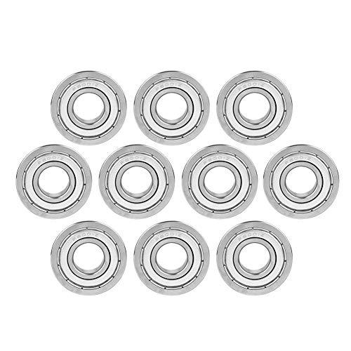 Rodamiento De Bolas Con Brida, Universal F6001zz 12x28x8mm 10pcs Rodamiento De Acero En Miniatura Con Doble Blindaje