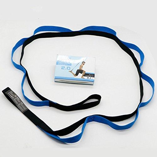 MianBaoShu Cinturón de fitness yoga flexibility Stretch Strap con trabillas para entrenamiento Gimnasia multifuncional Cinturón para yoga,Bailar,Ballet&entrenamiento de Resistance banda&dehn banda.