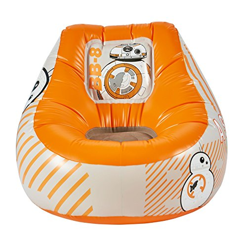 Star Wars Aufblasbarer Sessel mit BB-8-Motiv, Holz, orange, 60 x 78 x 78 cm