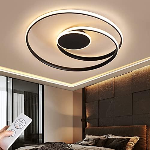 Lámpara De Techo LED Moderna Regulable Con Control Remoto Lámpara Para Habitación De Niños Aluminio Lámparas Araña Para Dormitorio Sala De Estar Para Comedor Baño Mesa Comedor Pasillo (Black,45CM)