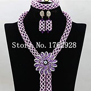 Duccis Jewelry Sets - Mint Green Crystal Necklace Braid Women Costume Jewelry Set for Wedding Party Occasion C00058 - (Metal Color: 15)