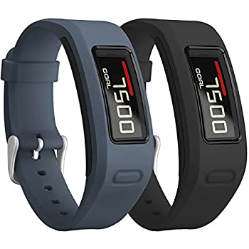 SKYLET Compatible with Garmin Vivofit Bands Colorful Silicone Replacement Band Compatible with Garmin Vivofit 1 Wristband with Metal Buckle Men Women