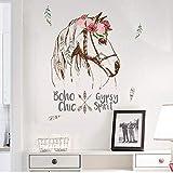 HoSayLike Pegatina de Pared Colorido Caballo Extraíble Vinilo Calcomanía Mural Inicio Decoración Wall Sticker