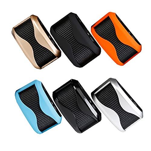 Antiladridos Perro Collar Adiestramiento Perros Anti Ladrido,7 Niveles De Ajuste De Intensidad, con Electricidad Estática, Vibración, Sonido De Advertencia (Color : Orange, Style : ARC)