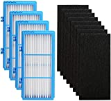 Colorfullife Replacement Filters for Holmes AER1 HEPA Type Total Air Filter Replacement Filters for HAPF30AT and HAP242-NUC, 4 HEPA + 8 Carbon Booster Filters