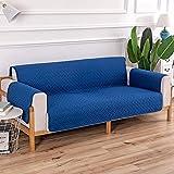 OKJK Sofabezug Polyester, doppelseitig, Pet Dog Kindersofa-Schutz, Antihaft-Haar, schmutzabweisend, siamesische sofaüberwurf, Für Wohnzimmer (Blue,1 Seater(90-140cm))