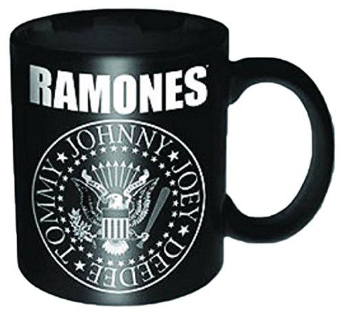 Empireposter – Ramones, The – Presidential Seal – Taille (cm) : env. 5,5 h6,7 – Mini tasses, NEUF – Ramones Boxed Mini Mug : Presidential Seal – Description : – Mini Céramique/tasse à expresso, noir, imprimé, contenance 120 ml, licence officielle, Passe au Lave-Vaisselle et au micro-ondes de