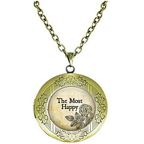 qws Anne Boleyn Motto The Most Happy- Henry VIII - Wife of Henry VIII - Anne Boleyn Locket Necklace