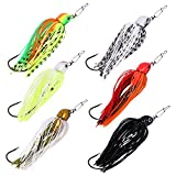 ZIIVARD 6 Pieces Flipping Jigs for Bass Fishing Silicone Skirts Crappie Lures Fishing Lures Mix Color Pack for Bass Trout Salmon