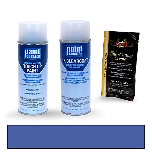 PAINTSCRATCH Touch Up Paint Spray Can Car Scratch Repair Kit - Compatible with 2018 Ford Mustang Blue Lightning Pearl (Color Code: N6/M7365)