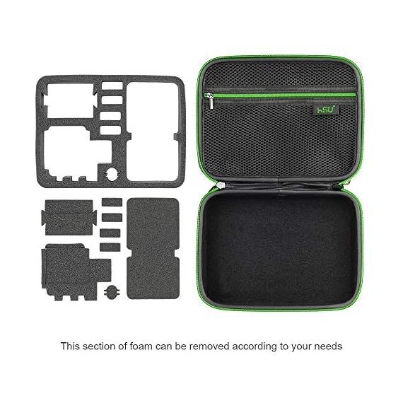 Middle Protective Carrying Case for GoPro Hero 9, 8, Hero(2018) Hero 7 Black, Hero 6,5, 4, LCD, Black, 3+, 3, 2 and… 4 CARRYING CASE FOR GOPRO CAMERA ACCESSORIES AND OTHER ACTION CAMERA:this carrying case is designed for gopro HERO 9, (2018), hero 7 black,hero 6,hero 5 black, gopro hero 4, gopro hero3, gopro hero3+, gopro hero 2, gopro HD, LCD,and other gadgets for the gopro camera KEEP YOUR MEMORIES SAFE AND SOUND USING ONE MEDIUM CASE - Our compact and easy to carry GoPro camera accessory gives you the opportunity to store your device in a safe and protective case, made to endure all the extreme action you put it through! MAKE SURE EVERYTHING YOU NEED IS AT YOUR FINGERTIPS - The incredible foam interior is specially designed to give you easy access to all the compartments. As a result, you will be able to find your accessories quickly when the action is heating up!