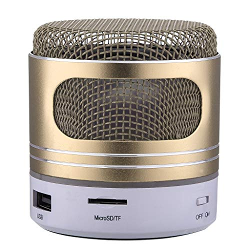 OPAKY Mini-Bluetooth-Lautsprecher USB-LED-Licht Wireless Wireless Music Box Subwoofer für iPhone, Samsung usw.