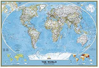 National Geographic: World Classic Mural Wall Map (110 x 76.5 inches) (National Geographic Reference Map)
