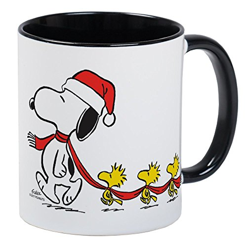 CafePress Snoopy And Bird Friends - Taza de café, té