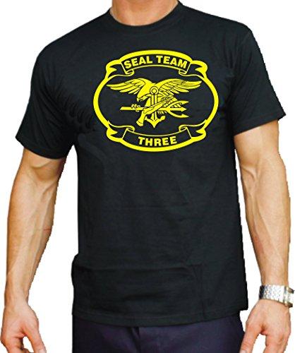 Feuer1 T-shirt Noir US Navy Seal – Team Three 3XL