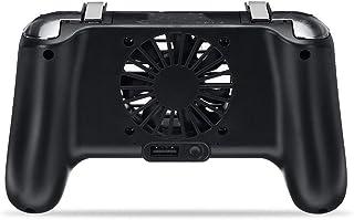 DYecHenG Gamepad Joystick Gamepad Holder 4 En 1 De Refrigeración Palanca De Carga De Ventilador del Radiador De Phon Móvil Alta sensibilidad y Respuesta rápida (Color : Black, Size : One Size)