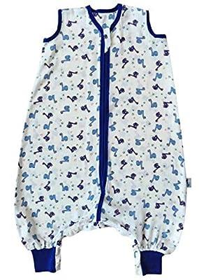 Saco de repetición Baby muselina Saco de dormir de verano con patas 0.5tog–Coches–joven–Disponible en 4tallas diferentes
