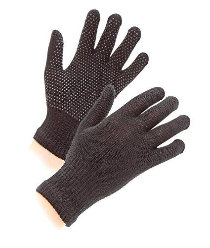 Shires Damskie rękawiczki jeździeckie z pewnym chwytem do jazdy konnej, czarne, jeden rozmiar