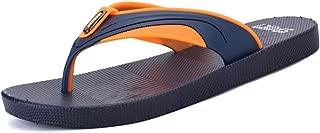 Men's Fashion Slippers Casual Simple Light Classic Color Collocation Beach Flip-Flops Shoes (Color : Blue, Size : 7.5 UK)