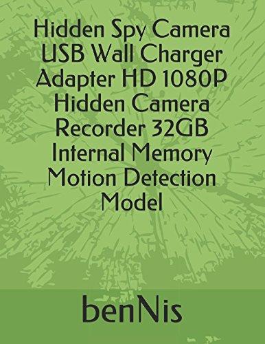 Hidden Spy Camera USB Wall Charger Adapter HD 1080P Hidden Camera Recorder 32GB Internal Memory Motion Detection Model