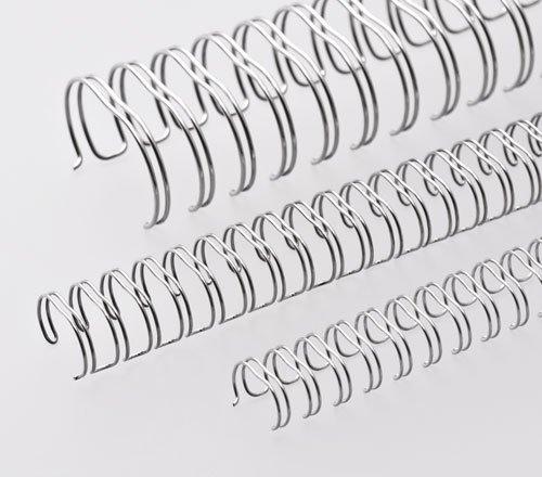 Renz One Pitch Drahtkamm-Bindeelemente in 2:1 Teilung, 23 Schlaufen, Durchmesser 22.0 mm, 7/8 Zoll, silber/matt