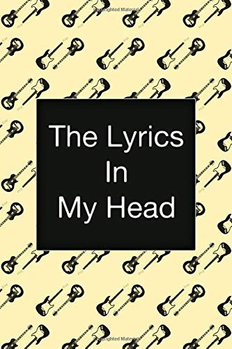 The Lyrics In My Head, Songwriting Notebook, Fender Stratocaster Guitar, Vintage Design:...