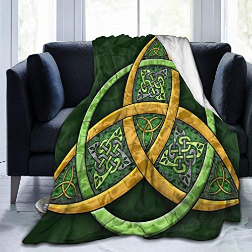 Xiojeiey Celtic Trinity Knot - Irish Ultra-Soft Micro Fleece Blanket Hotel Throw Blanket Cozy Warm Fuzzy Blanket for Bed Couch Living Room Throw Blanket Tapestry