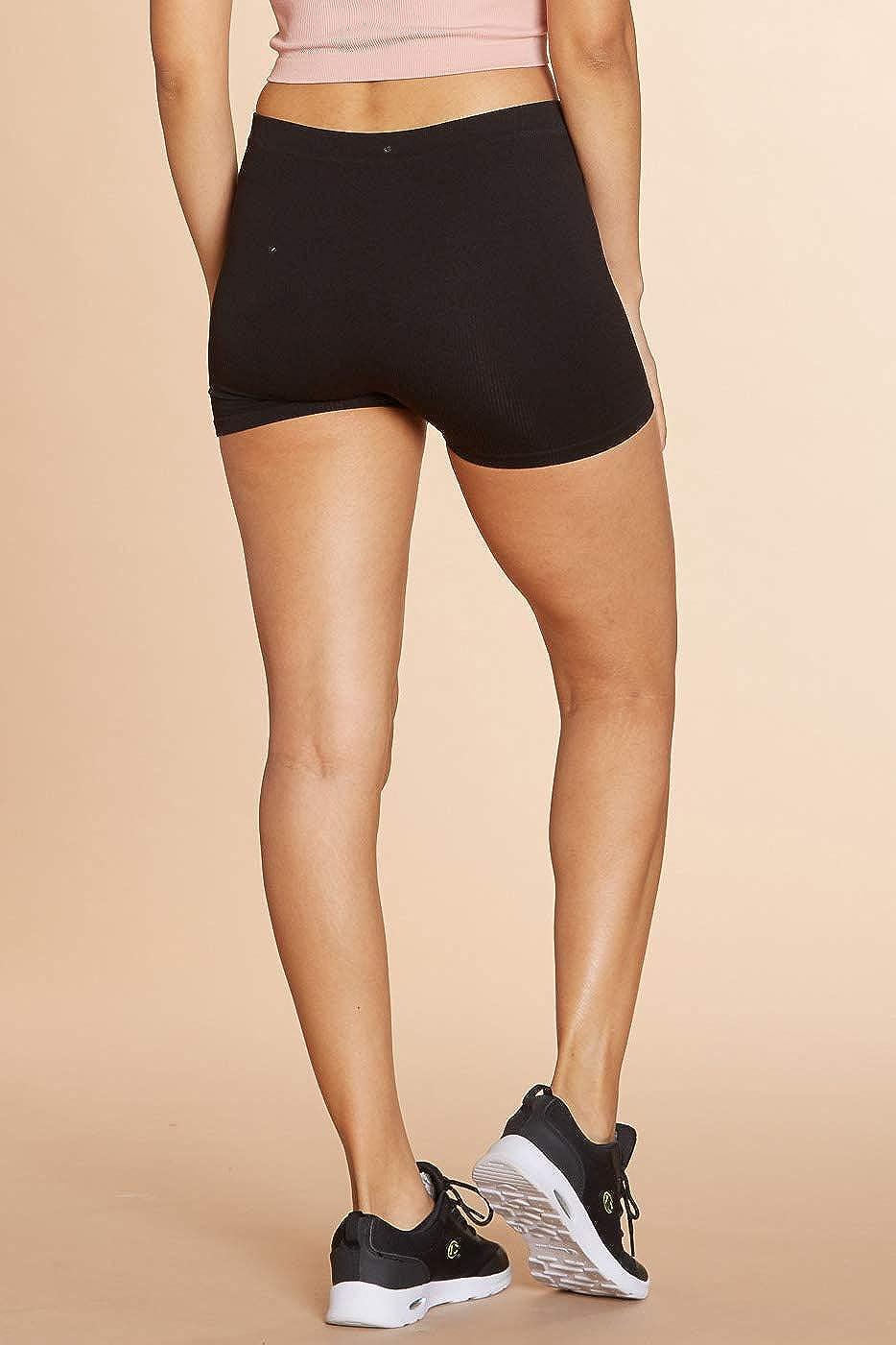 Urban Look Super Stretch Body Enhancing Seamless Ribbed Slip Shorts Biker Shorts f/ür Unterkleider und Workout