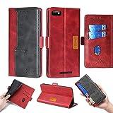 Oujietong Case for BLU Studio Mini 5.5 HD/BLU G5 Case Silicone TPU + Flip Cover Stand Shell Red
