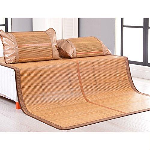 La première couche de tapis vert de bambou de bambou Tapis pliable exquis double sans bavure 1.5/1.8 mètres de lit de bambou de lit fin ponçant, doux et sensible doux pour la peau Xuan - worth hav