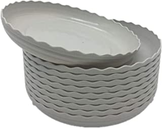 DODXIAOBEUL Light Grey Plant Saucers 10 Pack Flower Pot Drip Trays for Indoor & Outdoor Plants Garden Saucers Plant Pot Small Saucer Trays - Assorted Sizes for Large to Small Pots (5 Inch)