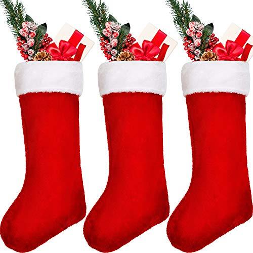 Sumind 20 Pulgadas Media Navidad Roja Colgante Chimenea