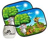 Tendine Parasole Auto Bambini - Design Innovativo con Paesaggio di Animaletti - Misura Universale 44x36 cm - Accessori Auto - ProMorlo
