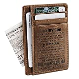 Son Memorial Gifts - Personalized Pocket Wallet For Daughter Gifts - 18th Birthday Graduation...