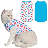 KOOLTAIL Cat T Shirts for Cats - 4 Pack Soft Comfortable Kitty Appreal Cute Cat Sleeveless Clothes for Kittens Puppies