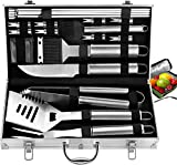 ROMANTICIST 20pc Complete Grill Accessories Kit with Cooler Bag - The Very Best Grill Gift on...