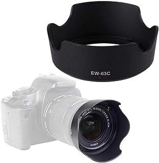 HAMISS EW-63C - Parasol para cámara réflex Digital Canon EOS Rebel T7i T6i T5i SL3 SL2 SL1 80D 70D 77D con Lente de Kit Canon EF-S 18-55mm f/3.5-5.6 es STM o Canon EF-S 18-55mm f/4-5.6 es STM